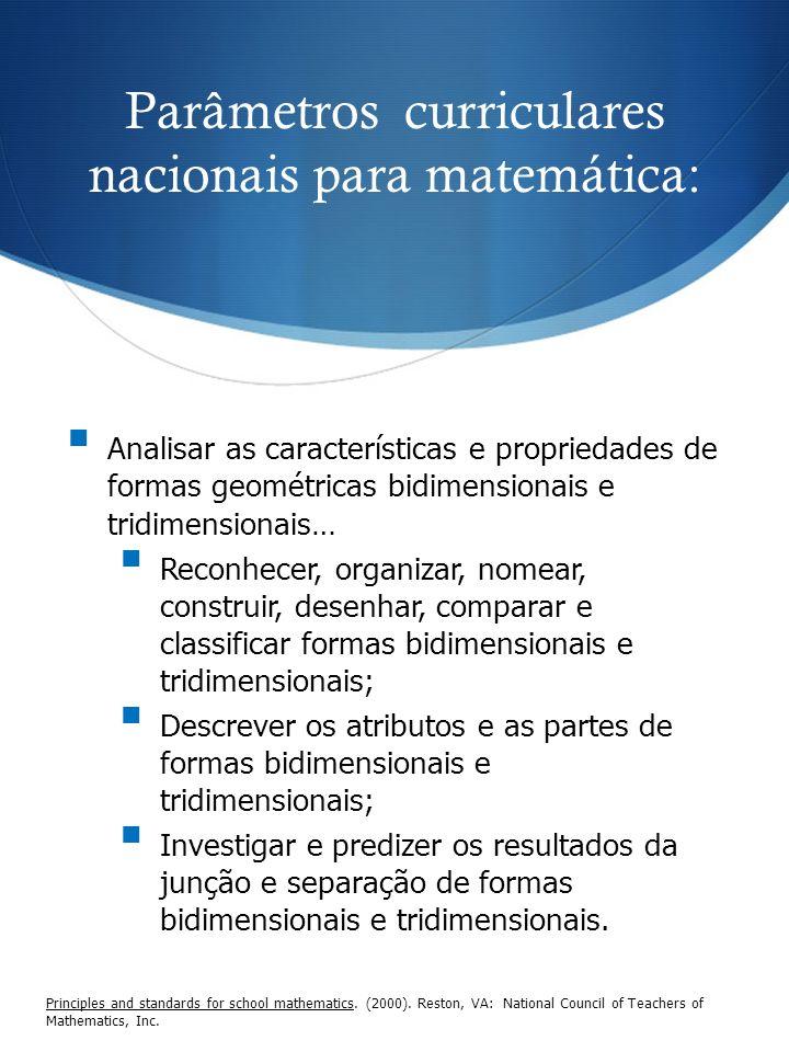 Parâmetros curriculares nacionais para matemática: Principles and standards for school mathematics. (2000). Reston, VA: National Council of Teachers o