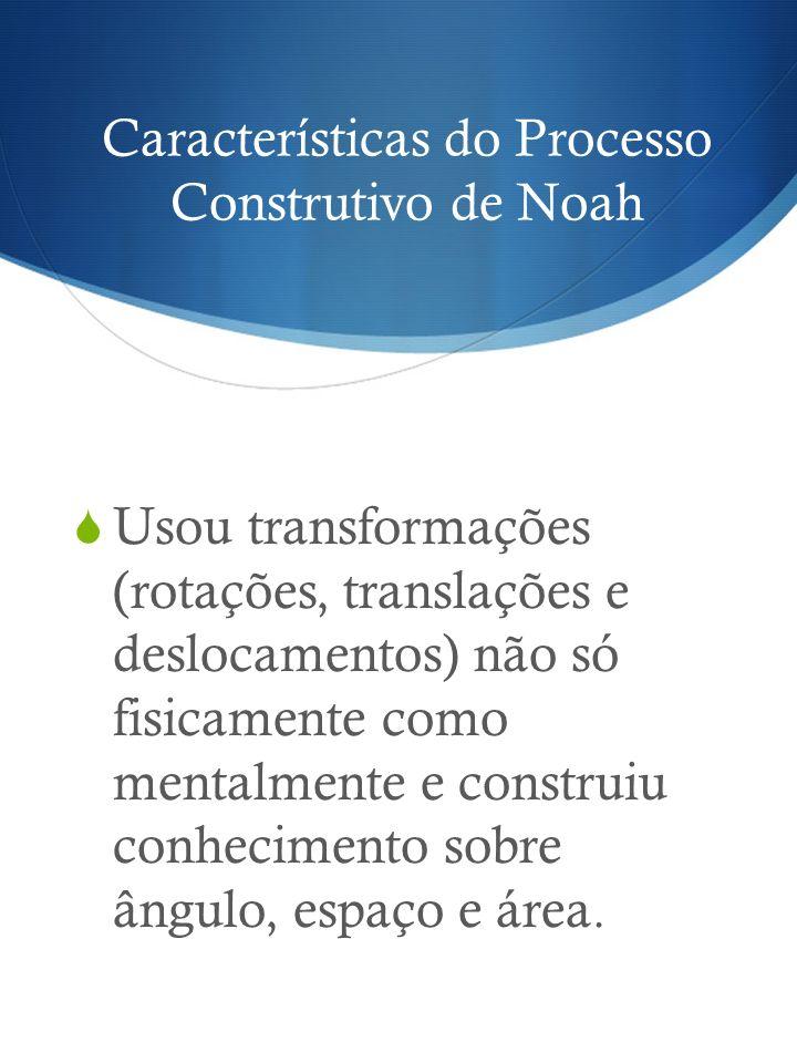 Características do Processo Construtivo de Noah Usou transformações (rotações, translações e deslocamentos) não só fisicamente como mentalmente e cons