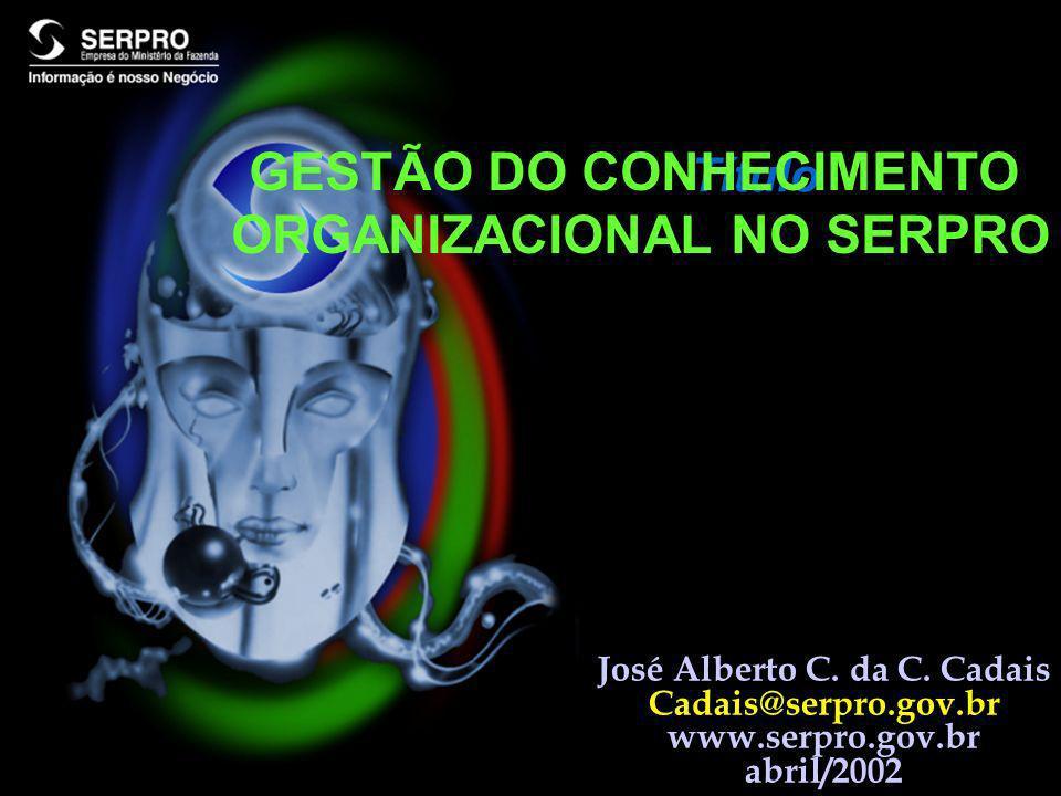 ESTRATÉGIA DE IMPLANTAÇÃO DA GCO NO SERPRO I.COMITÊ DE REPRESENTANTES GCO DAS UGs II.