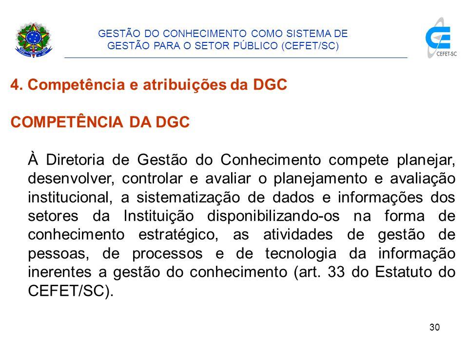31 GESTÃO DO CONHECIMENTO COMO SISTEMA DE GESTÃO PARA O SETOR PÚBLICO (CEFET/SC) 4.