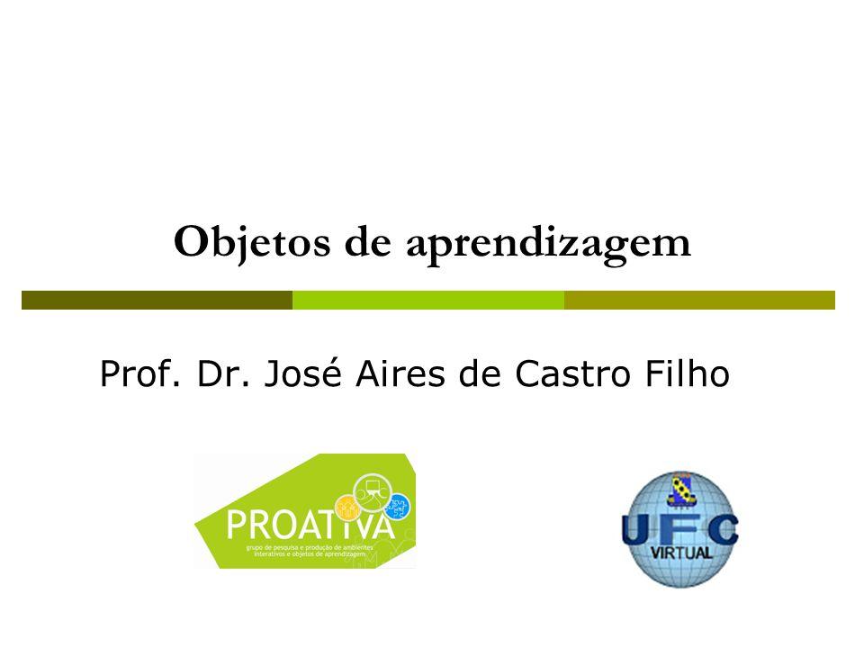 Objetos de aprendizagem Prof. Dr. José Aires de Castro Filho