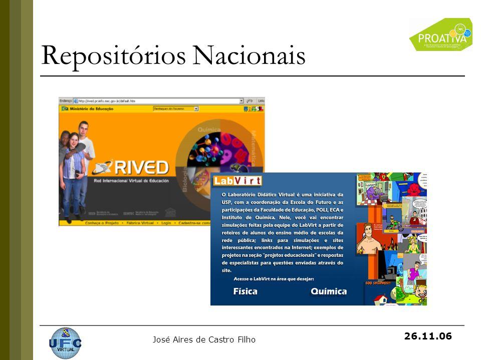 José Aires de Castro Filho 26.11.06 Repositórios Nacionais