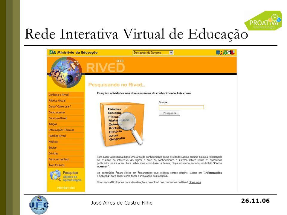 José Aires de Castro Filho 26.11.06 Rede Interativa Virtual de Educação