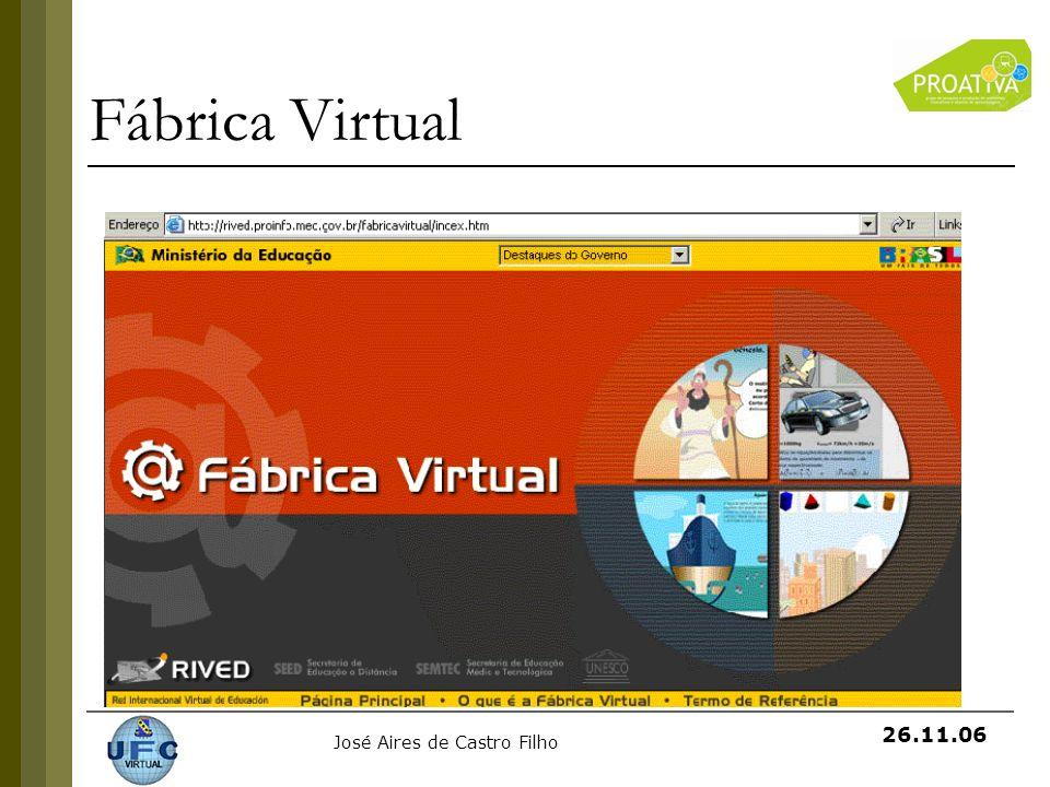 José Aires de Castro Filho 26.11.06 Fábrica Virtual