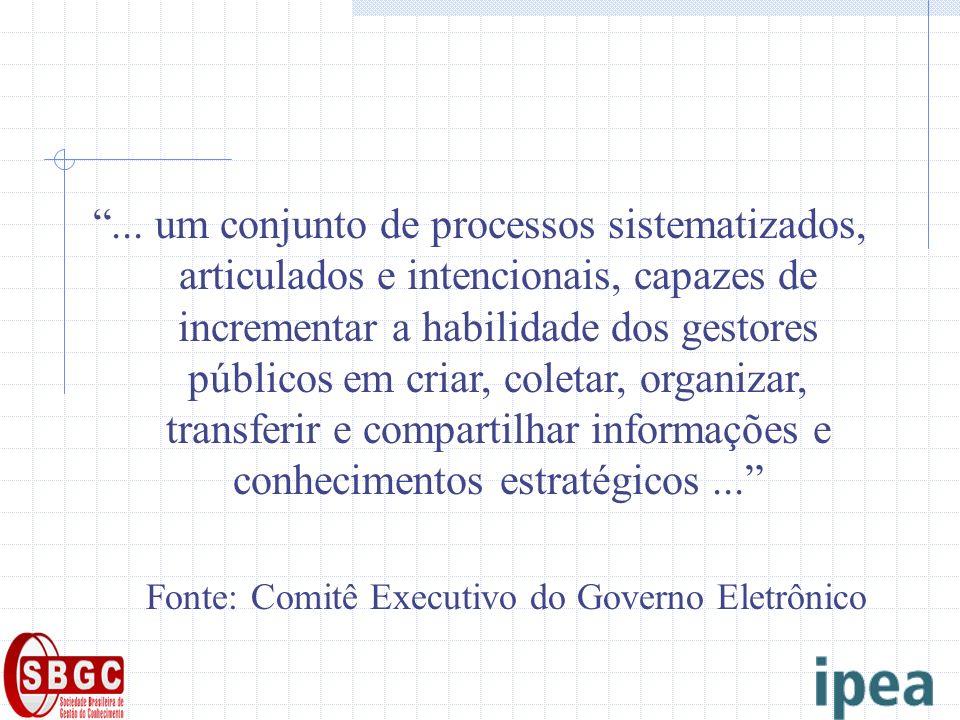 ... um conjunto de processos sistematizados, articulados e intencionais, capazes de incrementar a habilidade dos gestores públicos em criar, coletar,