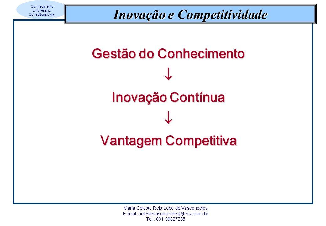 Conhecimento Empresarial Consultoria Ltda. Maria Celeste Reis Lobo de Vasconcelos E-mail: celestevasconcelos@terra.com.br Tel.: 031 99827235 Inovação