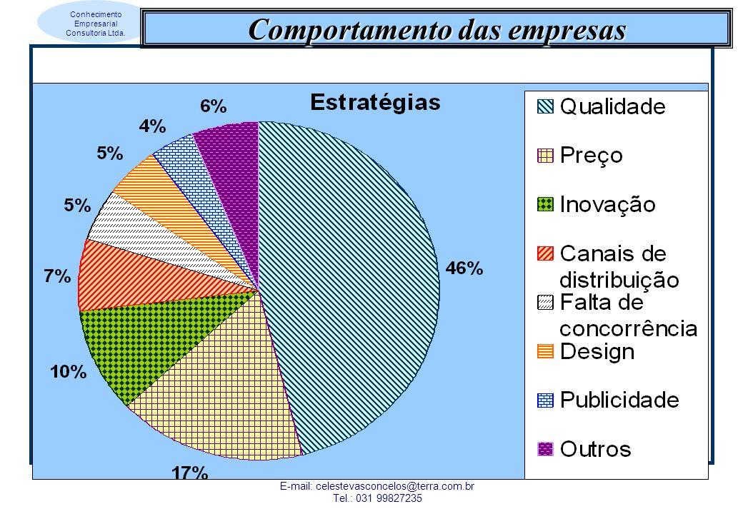 Conhecimento Empresarial Consultoria Ltda. Maria Celeste Reis Lobo de Vasconcelos E-mail: celestevasconcelos@terra.com.br Tel.: 031 99827235 Comportam