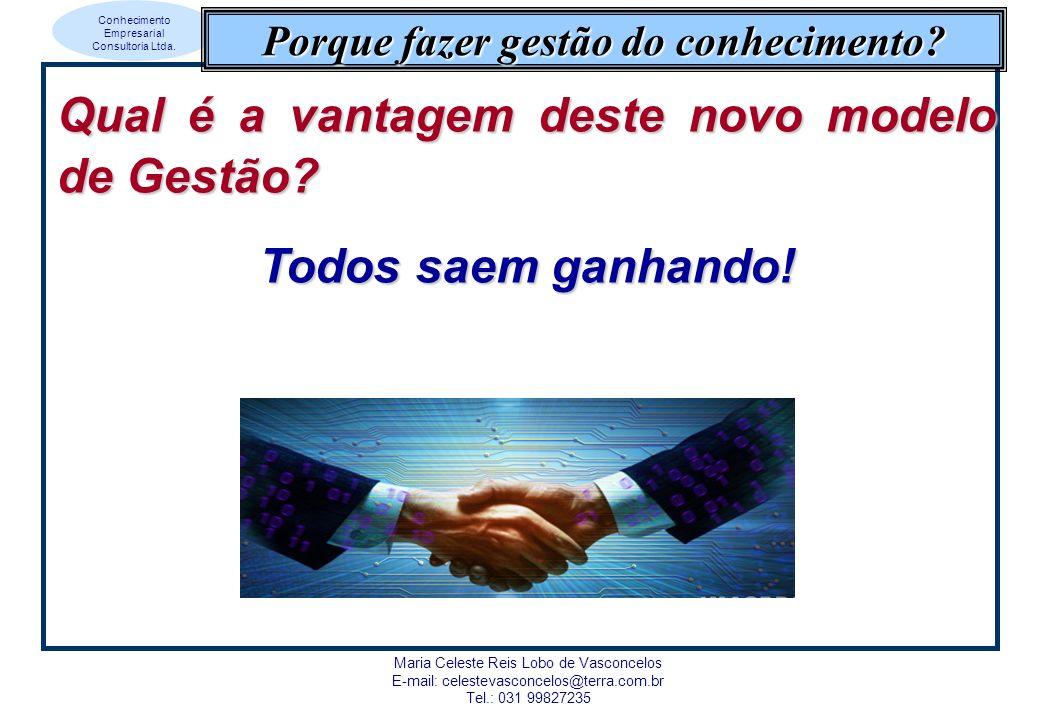 Conhecimento Empresarial Consultoria Ltda. Maria Celeste Reis Lobo de Vasconcelos E-mail: celestevasconcelos@terra.com.br Tel.: 031 99827235 Porque fa