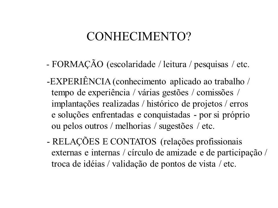 A DEFINIÇÃO NA GESTÃO DO CONHECIMENTO - CONHECIMENTO TÁCITO (exclusivo do funcionário, decorrente de suas habilidades, informações, experiências pessoais.