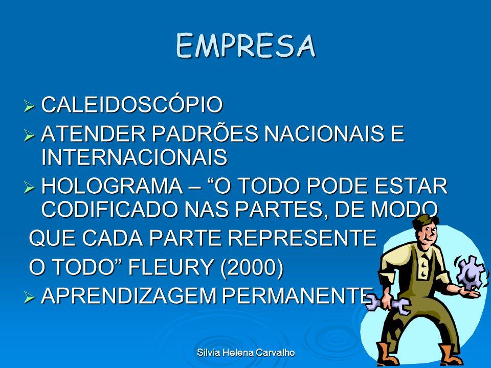 Silvia Helena Carvalho EMPRESA CALEIDOSCÓPIO CALEIDOSCÓPIO ATENDER PADRÕES NACIONAIS E INTERNACIONAIS ATENDER PADRÕES NACIONAIS E INTERNACIONAIS HOLOG