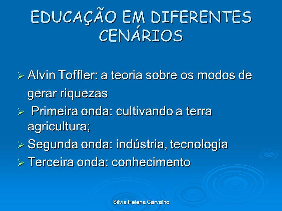 Silvia Helena Carvalho EDUCAÇÃO EM DIFERENTES CENÁRIOS Alvin Toffler: a teoria sobre os modos de Alvin Toffler: a teoria sobre os modos de gerar rique