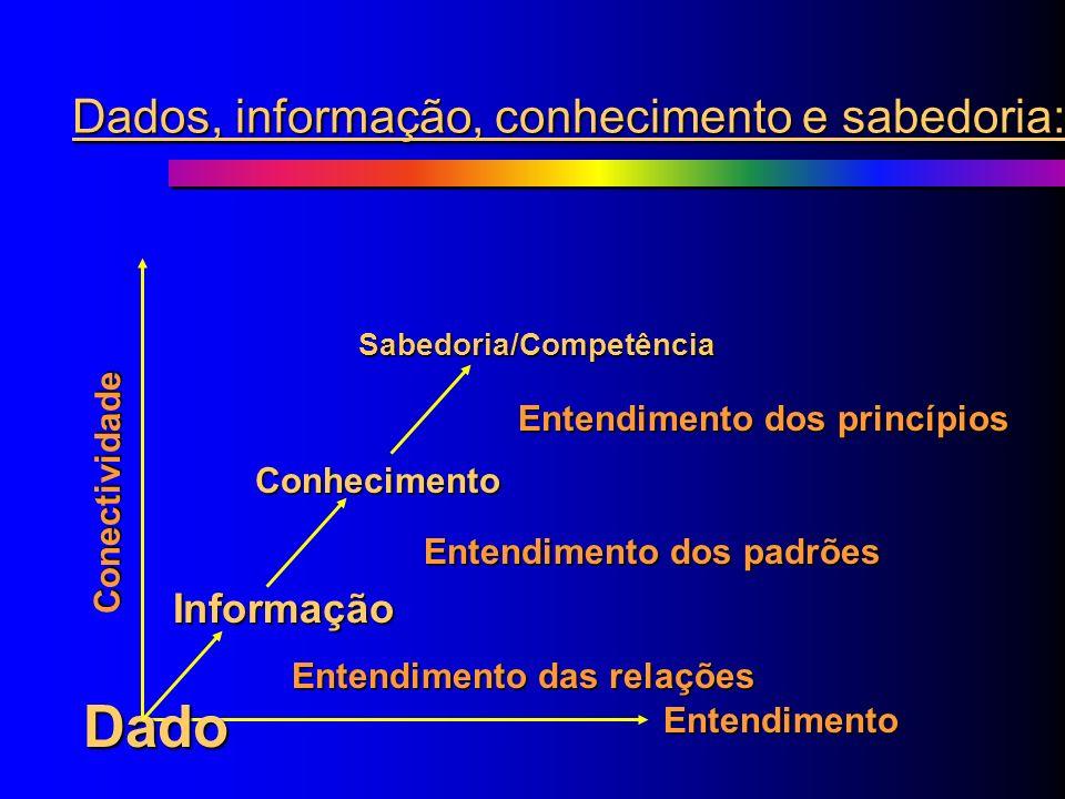 Dados, informação, conhecimento e sabedoria: Dados InformaçãoConhecimentoCompetência