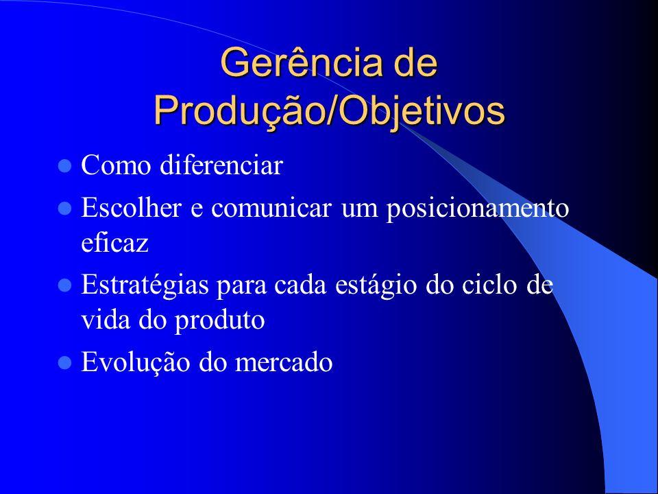 ESTRATÉGIA DE PRODUÇÃO/OBJETIVOS GENÉRICO PRODUZIR BENS E SERVIÇOS DEMANDADOS PELOS CONSUMIDORES ESPECIFICOS APOIAR A ESTRATÉGIA EMPRESARIAL IMPLEMENT