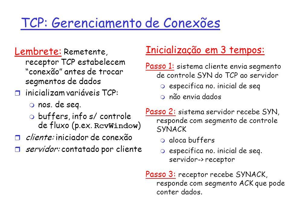 Sockets TCP – accept() Esta função aceita pedidos de conexão pendentes ou fica bloqueada até a chegada de um.