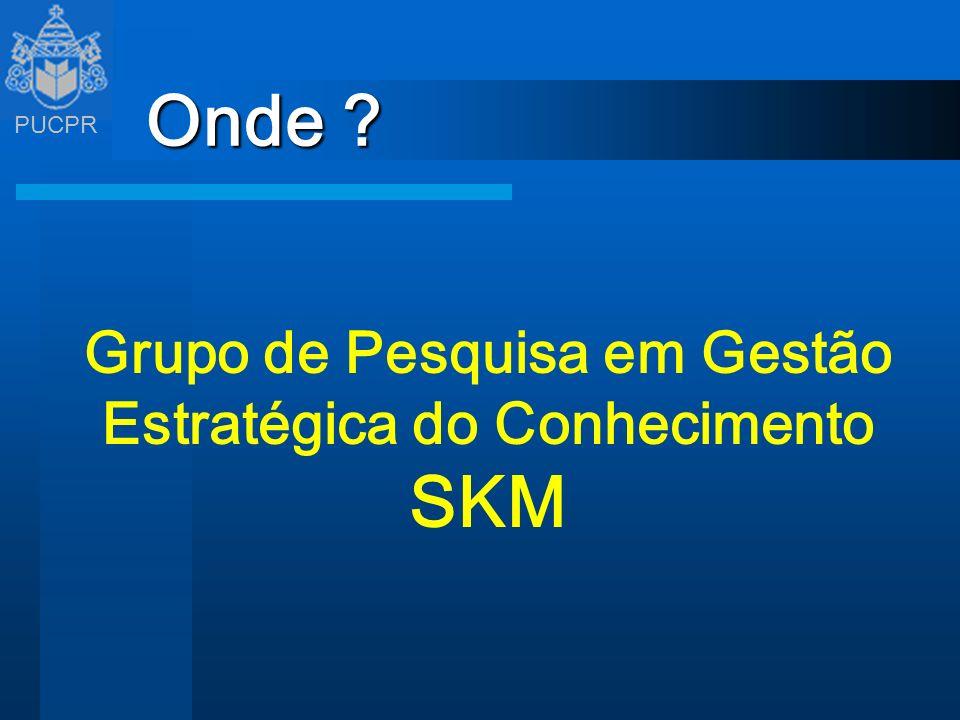 PUCPR Onde ? Grupo de Pesquisa em Gestão Estratégica do Conhecimento SKM