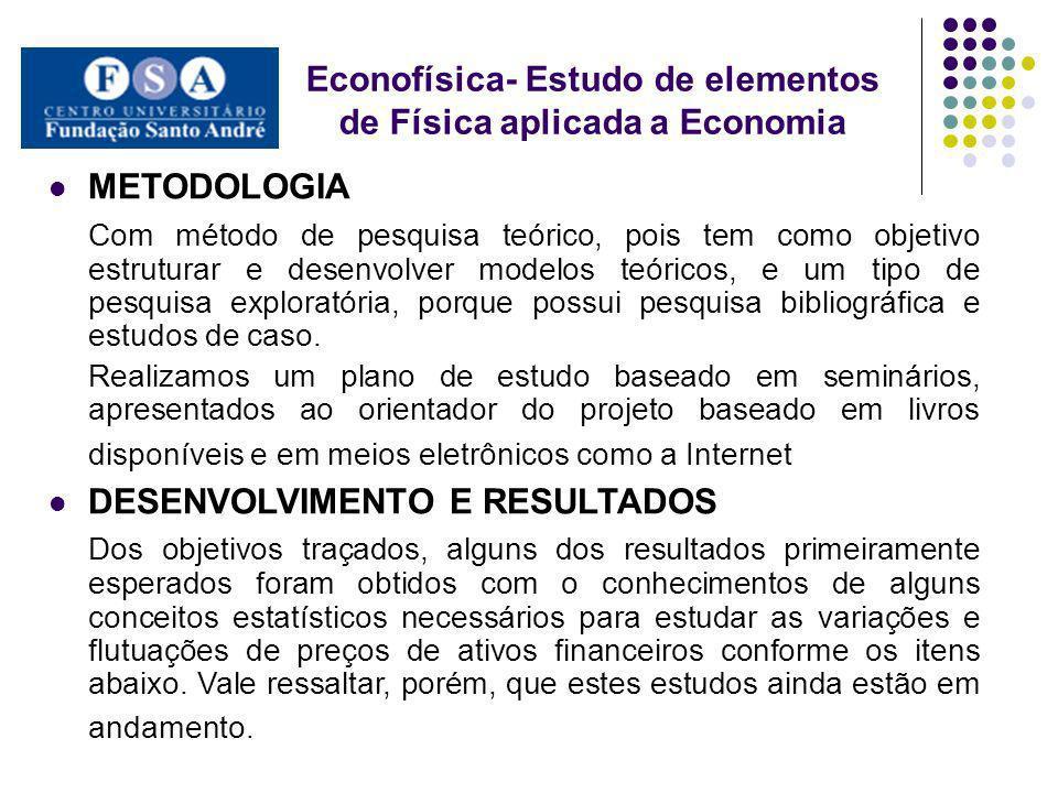 METODOLOGIA Com método de pesquisa teórico, pois tem como objetivo estruturar e desenvolver modelos teóricos, e um tipo de pesquisa exploratória, porq