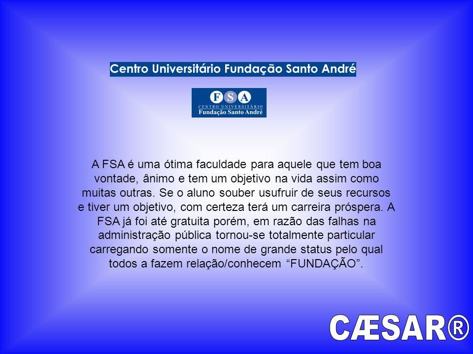 A FSA é uma ótima faculdade para aquele que tem boa vontade, ânimo e tem um objetivo na vida assim como muitas outras. Se o aluno souber usufruir de s