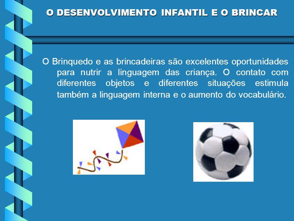 O Brinquedo e as brincadeiras são excelentes oportunidades para nutrir a linguagem das criança. O contato com diferentes objetos e diferentes situaçõe