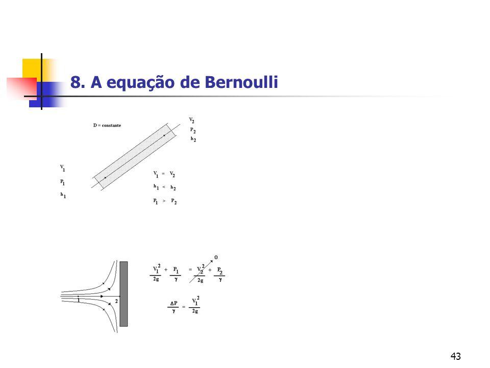 43 8. A equação de Bernoulli