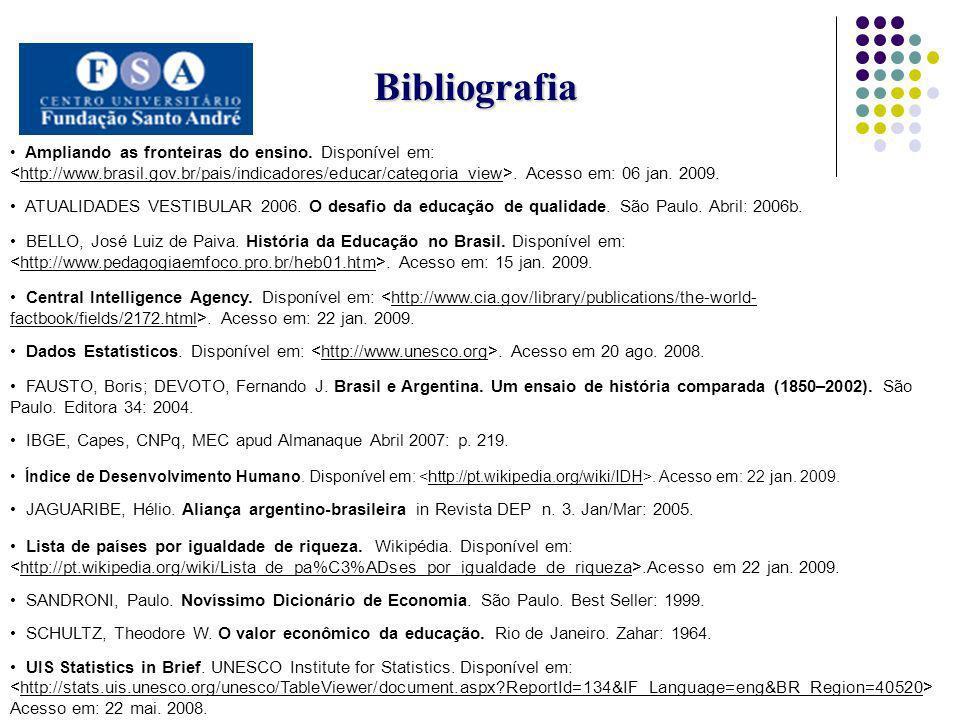 Bibliografia Ampliando as fronteiras do ensino. Disponível em:. Acesso em: 06 jan. 2009. ATUALIDADES VESTIBULAR 2006. O desafio da educação de qualida