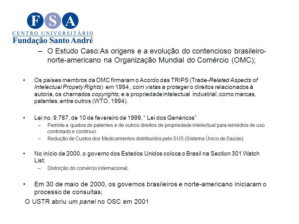 –O Estudo Caso:As origens e a evolução do contencioso brasileiro- norte-americano na Organização Mundial do Comércio (OMC); Os países membros da OMC f