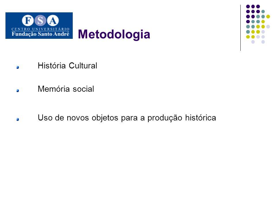 Metodologia História Cultural Memória social Uso de novos objetos para a produção histórica