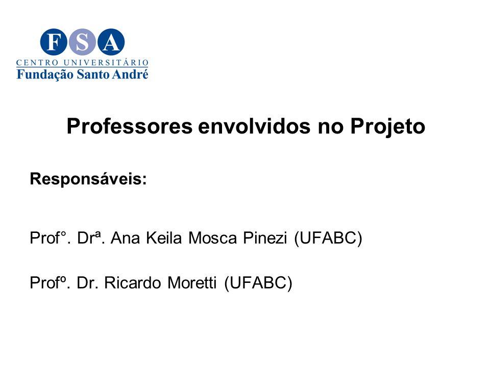 Responsáveis: Prof°.Drª. Ana Keila Mosca Pinezi (UFABC) Profº.