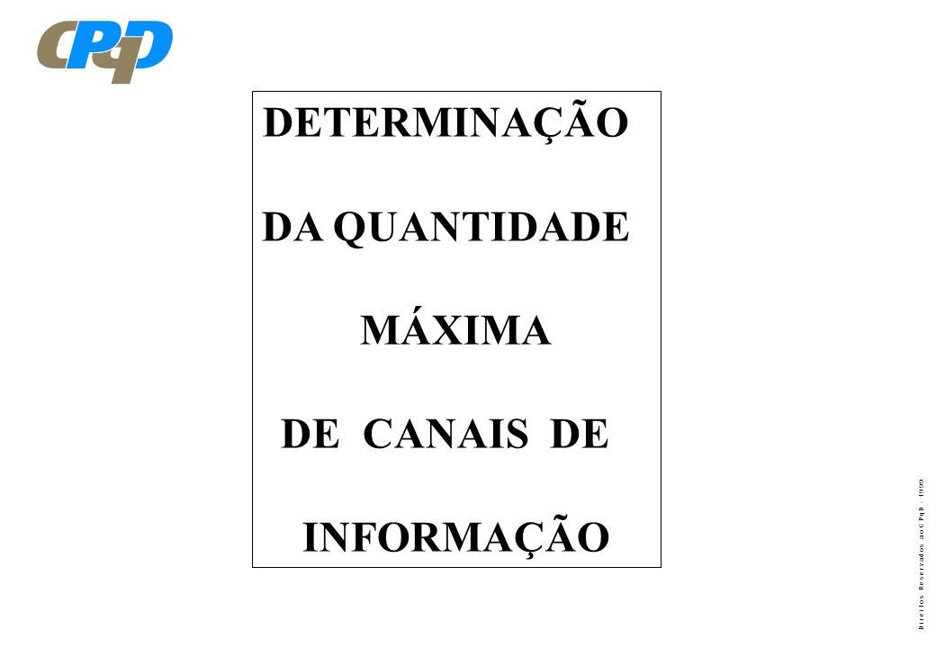 D i r e i t o s R e s e r v a d o s a o C P q D - 1 9 9 9 TRANSCEPTOR CDMA