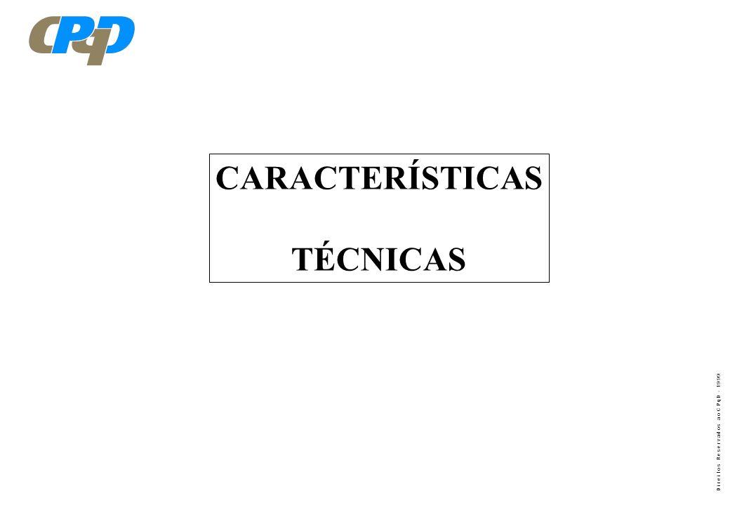 D i r e i t o s R e s e r v a d o s a o C P q D - 1 9 9 9 SISTEMA CELULAR CDMA, PADRÃO IS - 95