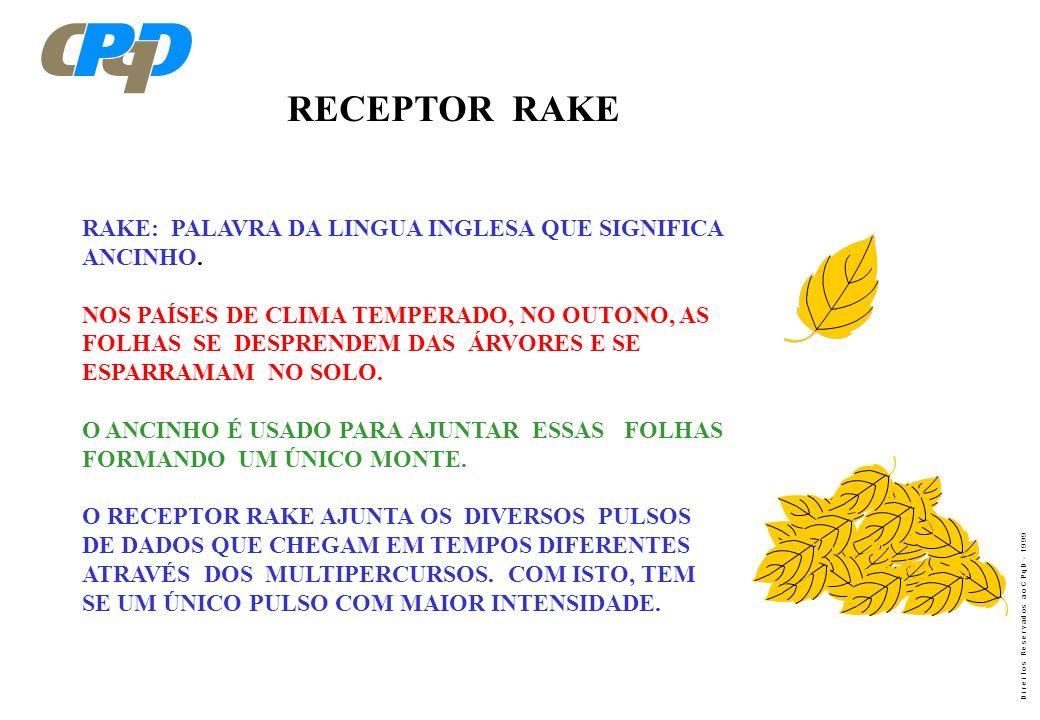 D i r e i t o s R e s e r v a d o s a o C P q D - 1 9 9 9 RAKE RECEIVER