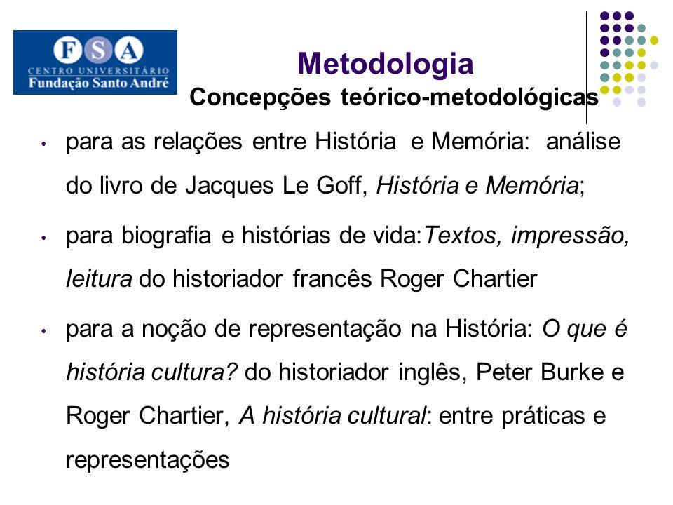 Metodologia Concepções teórico-metodológicas para as relações entre História e Memória: análise do livro de Jacques Le Goff, História e Memória; para