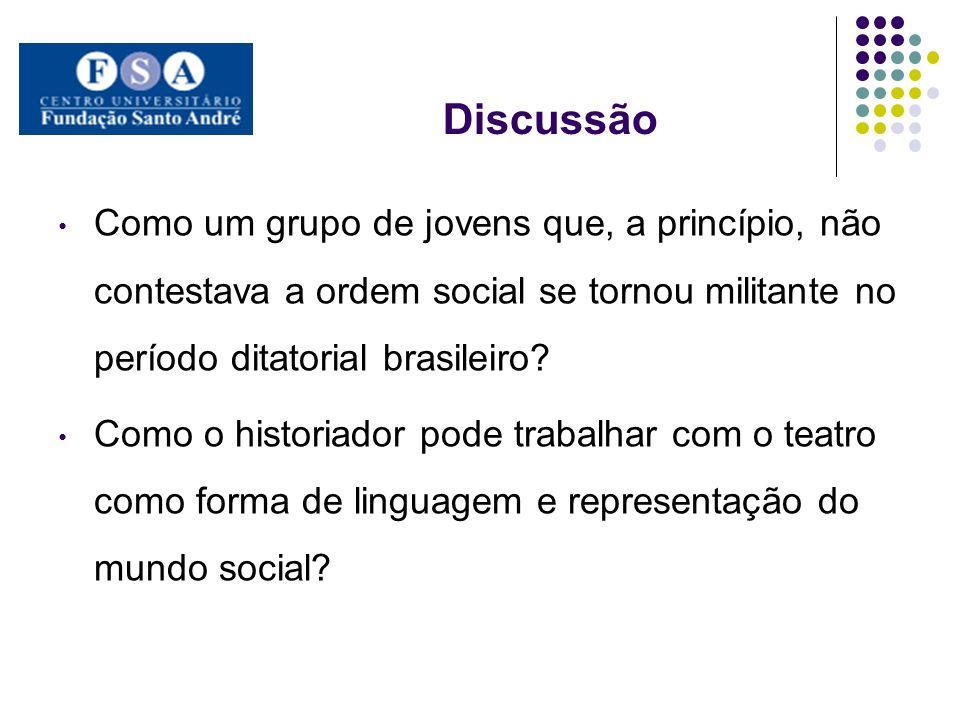 Discussão Como um grupo de jovens que, a princípio, não contestava a ordem social se tornou militante no período ditatorial brasileiro? Como o histori