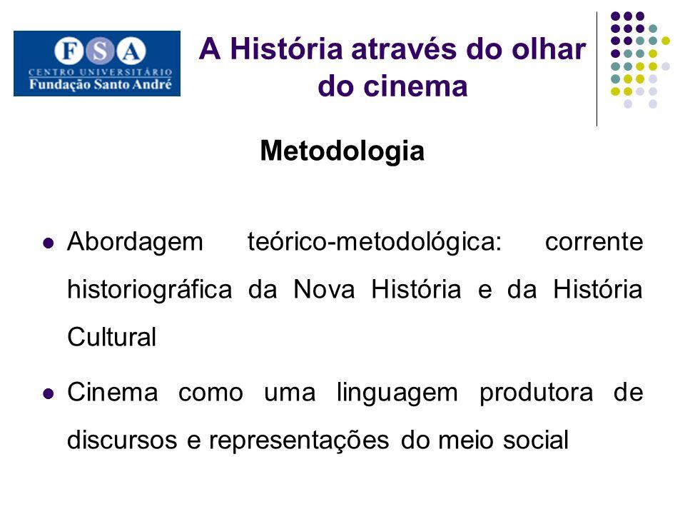 A História através do olhar do cinema Metodologia Abordagem teórico-metodológica: corrente historiográfica da Nova História e da História Cultural Cin