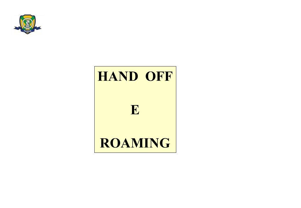 HAND OFF E ROAMING