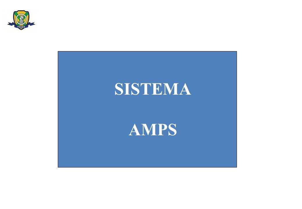 O PRIMEIRO SISTEMA CELULAR IMPLANTADO NO MUNDO SE CHAMOU ADVANCED MOBILE PHONE SERVICE – AMPS.