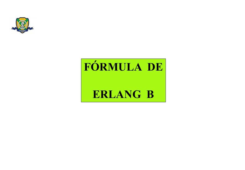 FÓRMULA DE ERLANG B