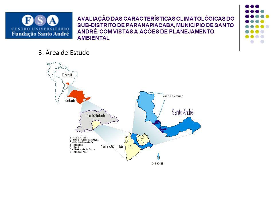 AVALIAÇÃO DAS CARACTERÍSTICAS CLIMATOLÓGICAS DO SUB-DISTRITO DE PARANAPIACABA, MUNICÍPIO DE SANTO ANDRÉ, COM VISTAS A AÇÕES DE PLANEJAMENTO AMBIENTAL