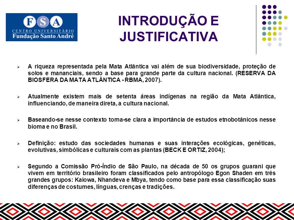 INTRODUÇÃO E JUSTIFICATIVA No Brasil calcula-se a população guarani em torno de 35 mil pessoas, sendo 20 mil Kaiowa, 18 mil Nhandeva e 7 mil Mbya, sendo que no estado de São Paulo, apesar do pouco conhecimento por parte da população local da existência de povos indígenas na região, a maior parte que vive em terras indígenas pertence aos grupos Guarani Mbya e Nhandeva (LADEIRA, 2004).