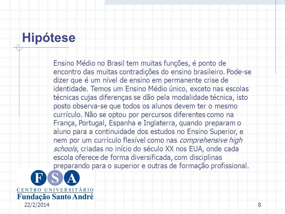 22/2/20149 Procedimento A metodologia adotada nesse estudo será a da análise documental.