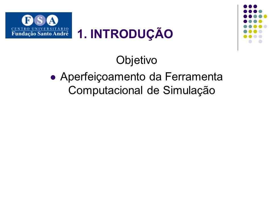 1. INTRODUÇÃO Objetivo Aperfeiçoamento da Ferramenta Computacional de Simulação