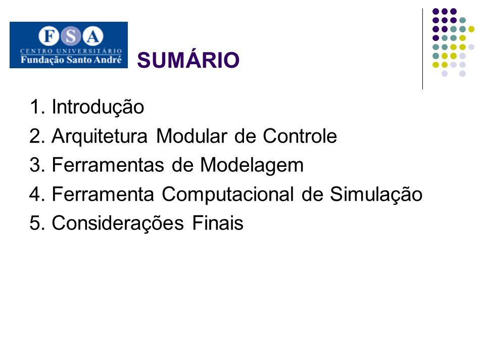SUMÁRIO 1. Introdução 2. Arquitetura Modular de Controle 3. Ferramentas de Modelagem 4. Ferramenta Computacional de Simulação 5. Considerações Finais
