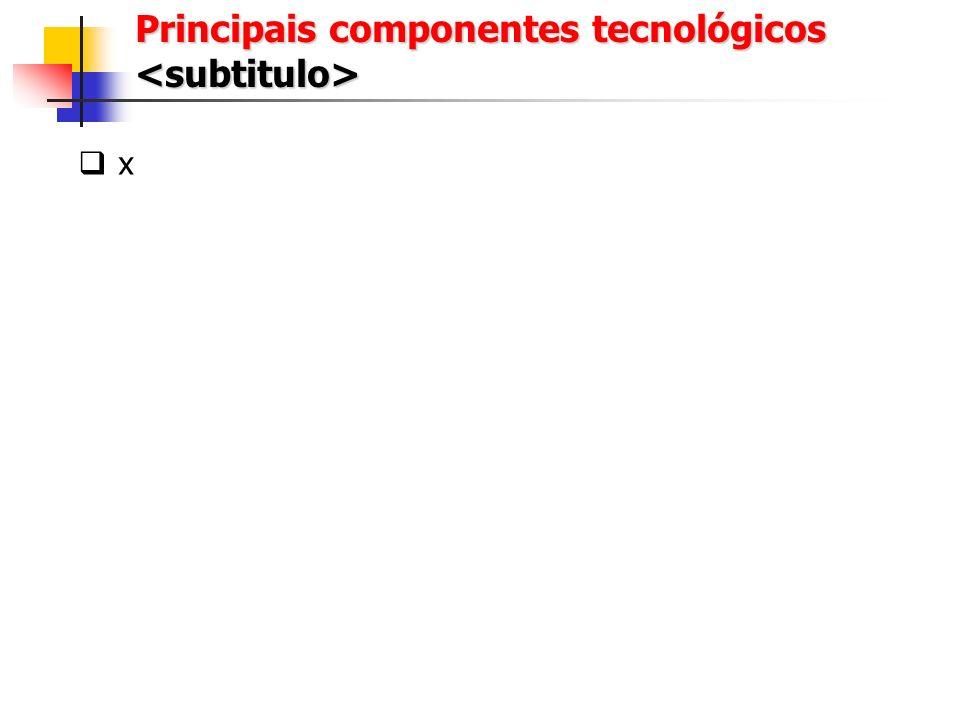 x Exemplo de Tela ou Relatório <subtitulo>