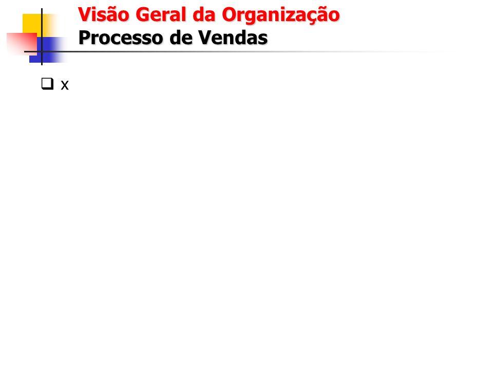 Visão Geral da Organização Processo de Marketing x