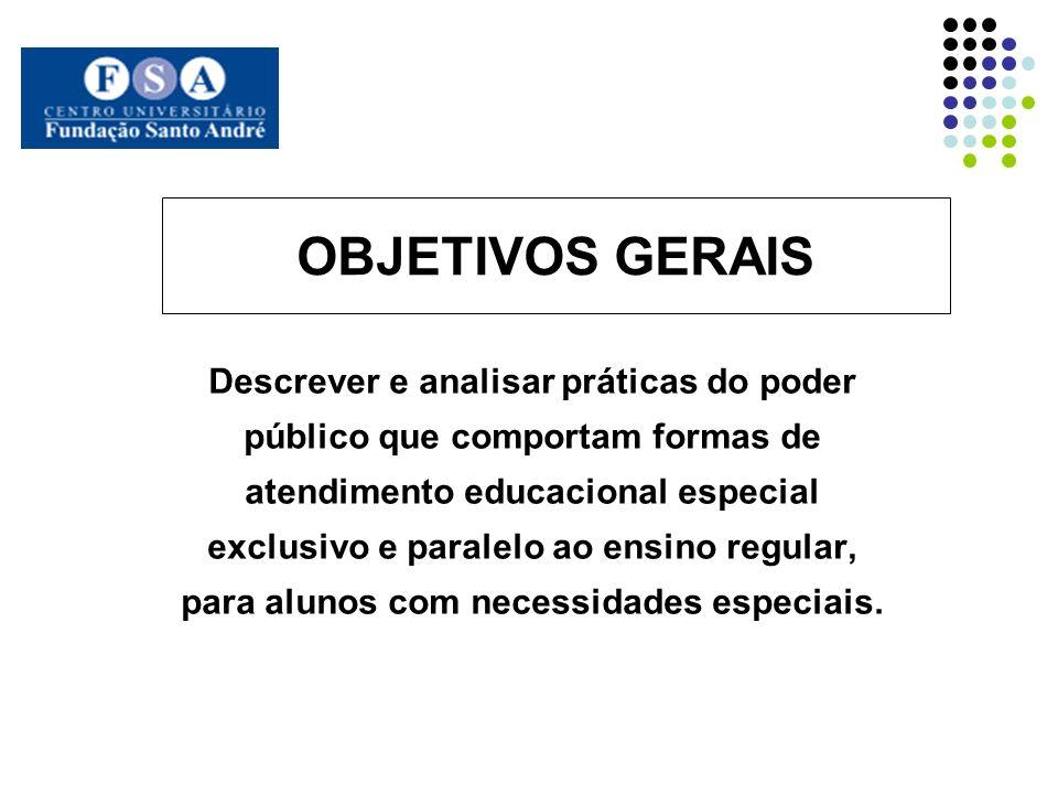 OBJETIVOS Descrever História da educação especial em Diadema Analisar Qualidade do atendimento educacional Avaliar Formação inicial e continuada de professores