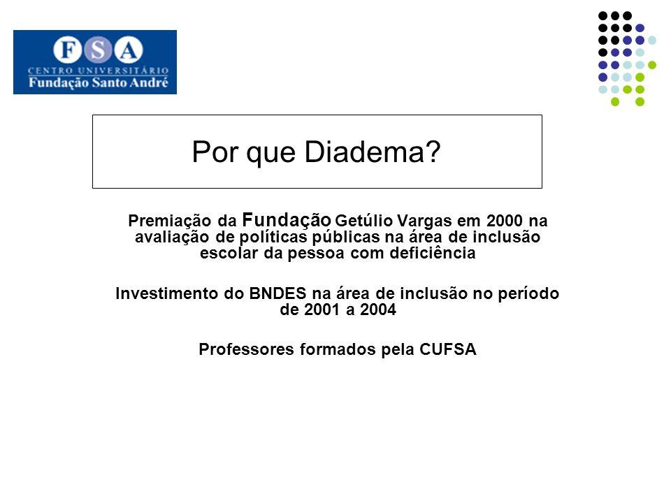 Por que Diadema? Premiação da Fundação Getúlio Vargas em 2000 na avaliação de políticas públicas na área de inclusão escolar da pessoa com deficiência