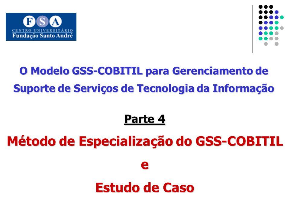 O Modelo GSS-COBITIL para Gerenciamento de Suporte de Serviços de Tecnologia da Informação Parte 4 Método de Especialização do GSS-COBITIL e Estudo de
