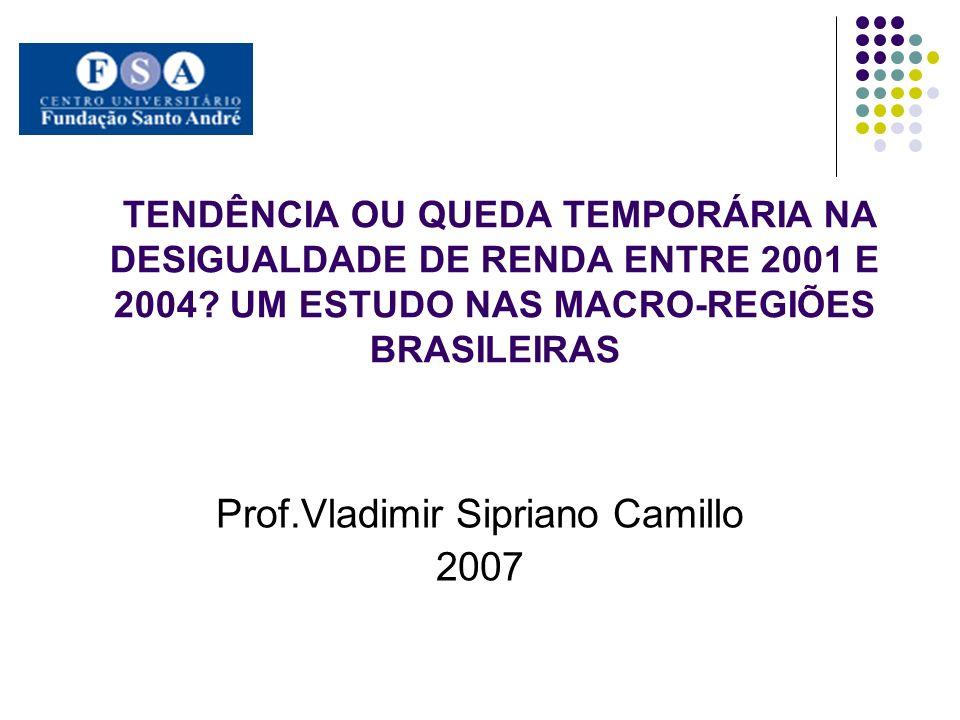 TENDÊNCIA OU QUEDA TEMPORÁRIA NA DESIGUALDADE DE RENDA ENTRE 2001 E 2004.
