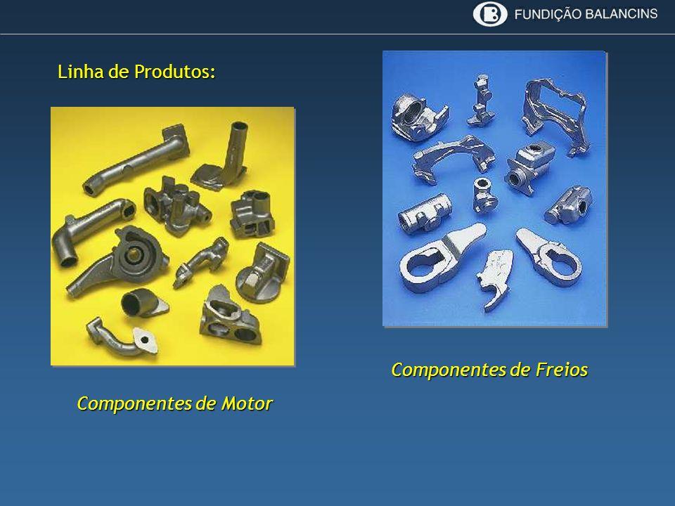 Componentes de Motor Componentes de Freios Linha de Produtos: