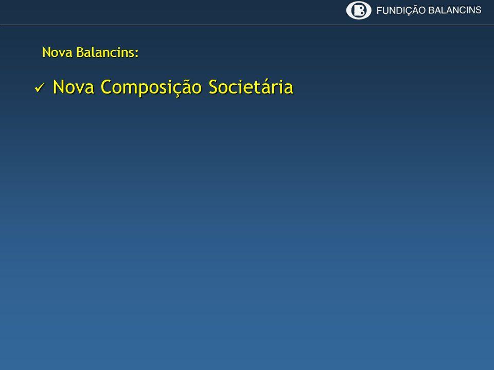 Nova Composição Societária Nova Composição Societária