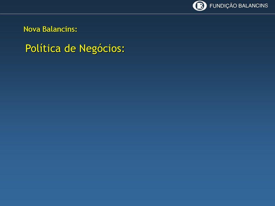 Nova Balancins: Política de Negócios: Política de Negócios: